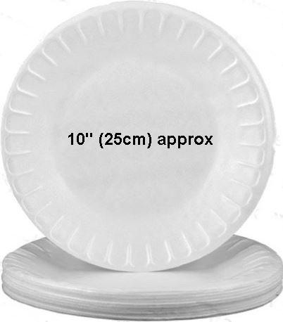 15 piezas térmica desechables platos de 25,4 cm cosas de ...