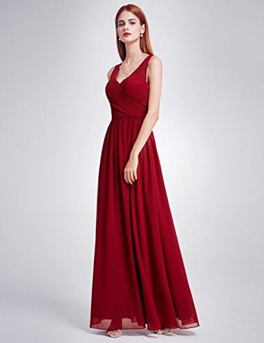Encaje Ever 08871 de Pretty Borgoña para Cuello v con Mujer Elegantes Noche de en Vestidos AgYrqxA