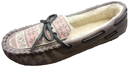 Faux Shearling Women's Lined Slipper Moccasin Taupe Jockey 5EqCKq