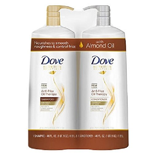 Dove Anti-Frizz Oil Therapy Shampoo & Conditioner (40 fl. oz., 2 pk.) (Dove Essential Nutrients)