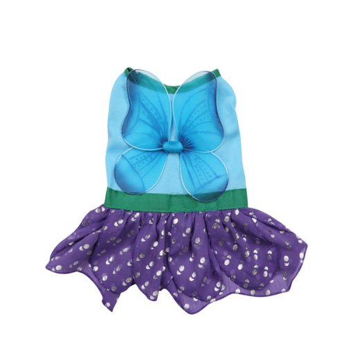 Casual Canine Polyester Woodland Fairy Dog Costume, Small, 12-Inch, Blue, My Pet Supplies