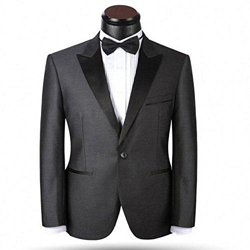 - 2 Piece Peak Lapel Gray Groom Tuxedos Party Suits