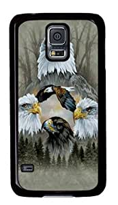 Five Eagle Collage Custom Samsung Galaxy S5/Samsung S5 Case Cover Polycarbonate Black