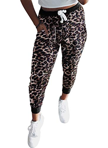 Eytino Women Sweatpant Casual Drawstring Elastic Waist Workout Yoga Active Joggers Pants with Pockets S-XL