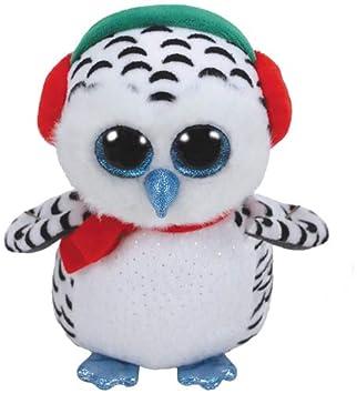 Ty 36424 los nidos, Nieve búho 24 cm Beanie Boo s, Blanco,
