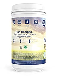 Raw Vegan Protein Powder 40oz (1133g) 2.5lb Vanilla 54 Servings Vegan Meal Replacement
