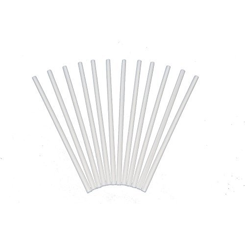 Plastic White Dowel Rods for Tiered Cake Construction, 12 Inch X 1/4, Pack of 12 Plastic Dowel