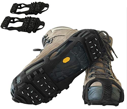 Limm Crampons Ice Traction Cleats Extra Large - Grips Quickly and Easily Over Footwear for Snow and Ice - Portable