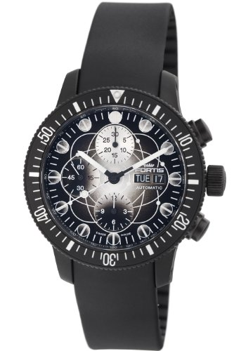 Fortis Men's 638.28.17 K B-42 Black Chronograph Watch