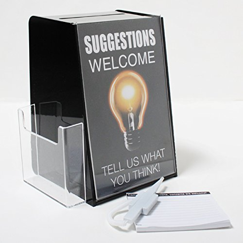 Suggestion Box with Security Pen and Comment Pad by leadbox.com