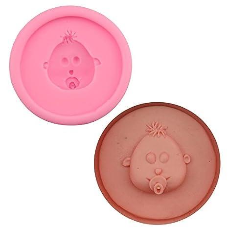 Sr. S tienda los chupetes para bebé forma silicona molde fondant cake galletas molde de silicona alimentaria y # xFF0 C; Pequeño tamaño: Amazon.es: Hogar