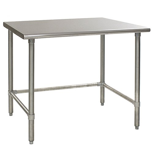 Eagle T3660GTB Stainless Steel Work Table with Galvanized Tube Base, 36
