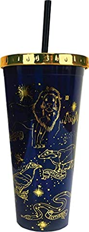Spoontiques Harry Potter Constellations - Taza con paja, 20 onzas, color azul marino