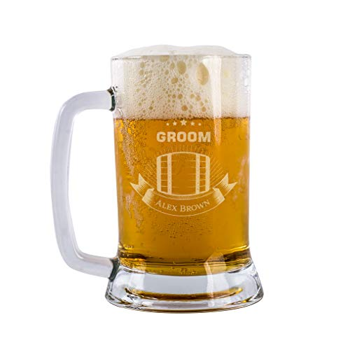 Groom Beer Mug Personalized Beer Pint For Groom Drinking Team Personalized Gift For Groom Groomsmen Best Man Customizable With Names And Date