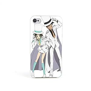 ecenter - Dibujos animados Detective Conan Case ClosedShinichi Kudo Ran Rachel Moore 3 couvercle de boîtier en plastique dur for Apple iPhone 4 4S 4th Generation Teléfono Móvil