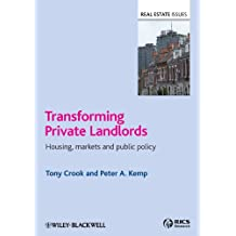 Transforming Private Landlords: Housing, Markets and Public Policy