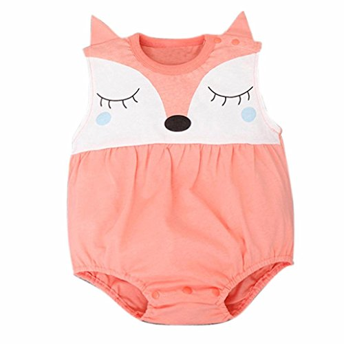 Romper , FEITONG Newborn Baby Girls Boys Teddy Leotard Jumpsuits Romper (12 Months, Orange)