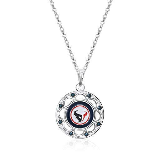 NFL Houston Texans Circle Pendant Logo Necklace