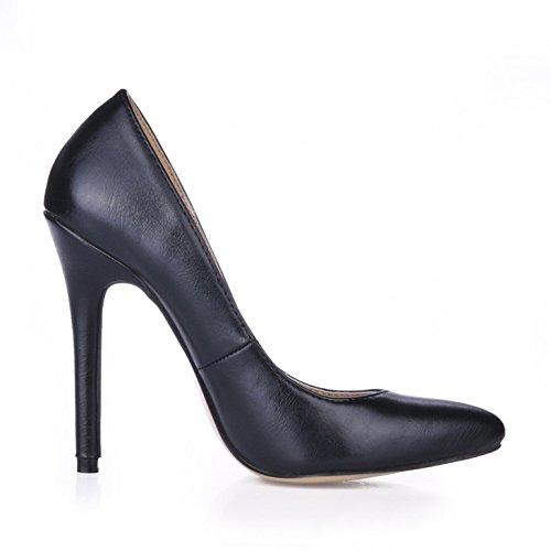 grand nouvelles femmes Seul le talon haut chaussures tombent de de de de Black noir à la dans women's caractéristiques sens les l'Office Point SIwq5xa