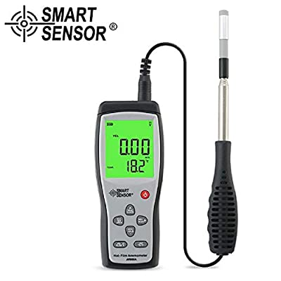 Tekit Digital Hot-Film Anemometer Wind Speed Meter Air Velocity Temperature Measurement 40M/S Data Hold to PC via USB Diagnostic-Tool