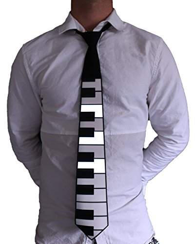 (Electric Styles - Sound Activated LED Light Up Necktie, Animated Novelty Ties for Men - Piano)