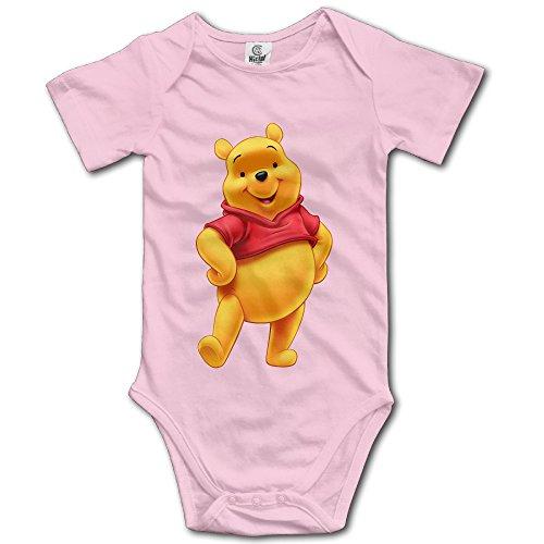 (The Pooh Bear Unisex Short Sleeve Bodysuits For Baby Boys/Girls)