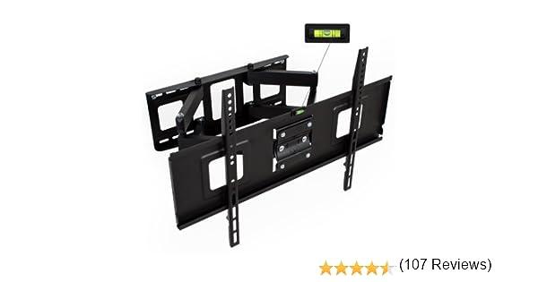 """TecTake Soporte de pared para TV de pantalla plana, inclinable y giratorio VESA max 600x400 máximo 120kg de 81 - 165 cm (32"""" - 65"""")"""