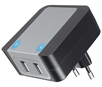 Cargador alimentador 100-240V Doble USB Carga rápida ...