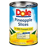 Dole Pineapple Slices in 100% Pineapple Juice 20 oz (Pack of 12)