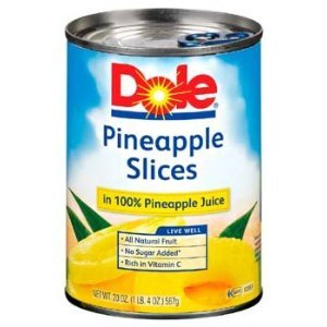 Dole Pineapple Slices in 100% Pineapple Juice 20 oz (Pack of 12) by Dole (Image #1)