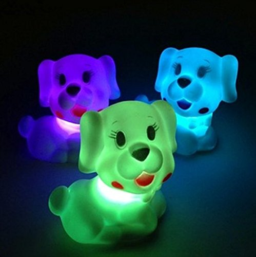 Pet Dog Shape Colorful Creative LED Energy Saving Lamp(1pc) Waterwood