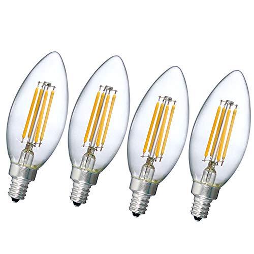 Bombilla LED C35, 4W E14 El ahorro de energía Bombillas Regulables, Bombilla Decorativas,