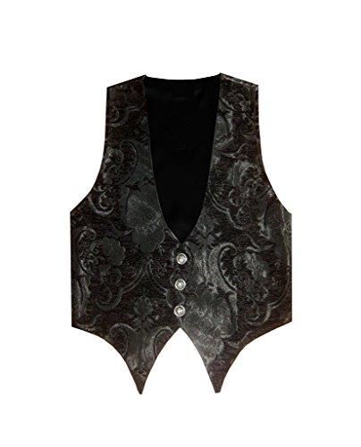 Victorian Vagabond Steampunk Brocade Gothic Men's Vest 3