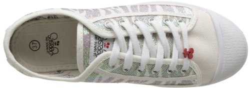 Le Temps des Cerises - Zapatillas de tela para mujer Blanco (Blanc (Zebre White))