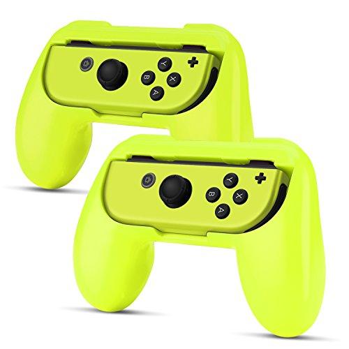 TNP Joy-Con Grip (2 Pack) for Nintendo Switch - Comfortable Grip Wear Resistant Joy-Con Handle Game Controller Kit Accessory for Nintendo Switch - Nintendo Switch (Resistant Kit)