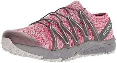 Merrell Women's Bare Access Flex Knit Sneaker, Rose Red, 6.5 M US