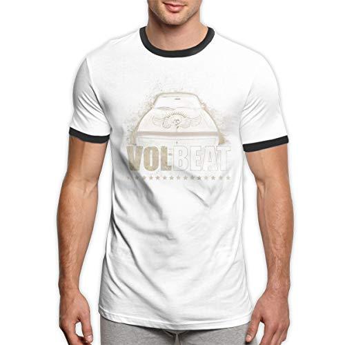 (John A Nunez Volbeat Men's T Shirt Personalized Ringer T-Shirt Black)