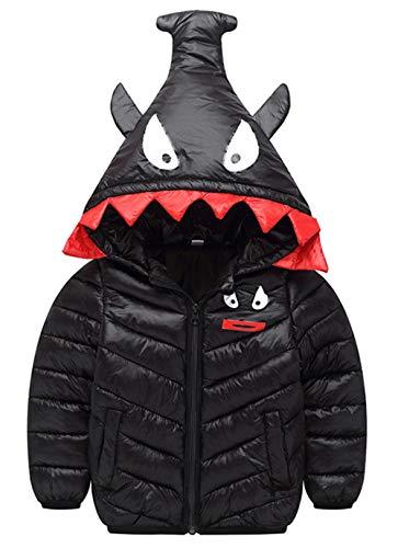 Girls Cherry Jacket - Happy Cherry Children's Hoodie Coat Windproof Puffer Down Jacket Lightweight Outwear Winter Outdoor Warm Clothes Boys Girls 6X Black