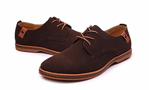 Shoes Brown Oxford Genuine Casual Urban Lace Fashion 2018 Mixed Leather up Classic Rp7v4wq