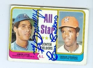 Autograph 120012 Astros Royals 1974 Topps No. 337 Alll St...