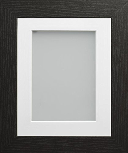 Frame Company 10x8-Inch Picture Photo Frame Black with White Mount ...