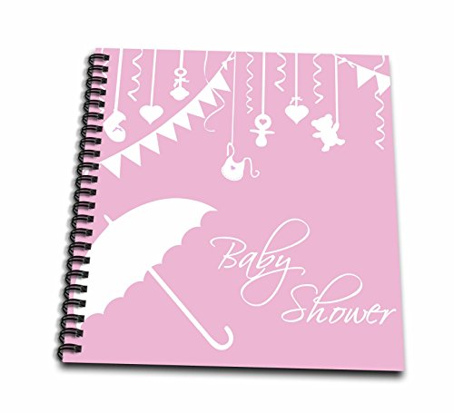 3dRose db_120277_2 Classy Pink Baby Shower Girly Pink for Girl Arrival Stylish Contemporary Modern Its a Girl Memory Book, 12 by 12-Inch