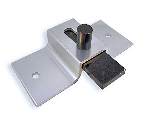 Surface Mounted Aluminum Slide Latch For Restroom Doors - Brite Dip Finish - 3-1/2'' Between Mounting Hole Centers by Young's Catalog
