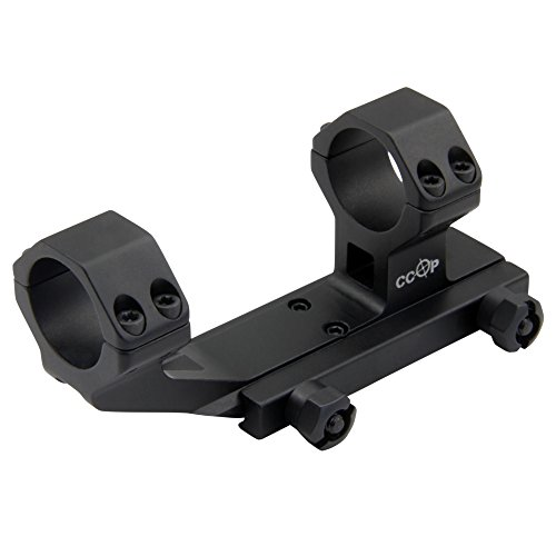 CCOP High Profile AR-ArmourTac Rifle Scope Mount Rings for Picatinny Rail, 1-Inch, Black