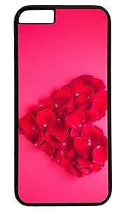 Love Heart Rose DIY Hard Shell Black Best Designed iphone 6 plus Case