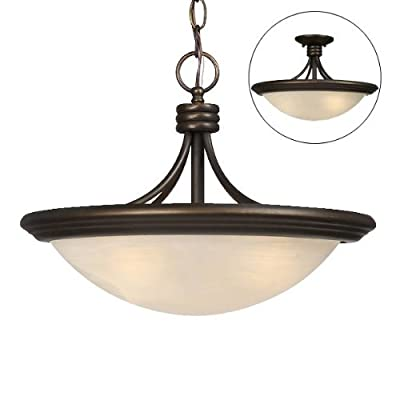 Galaxy Lighting 813916ORB 3 Light Caprice Bowl Large Pendant