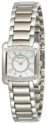 Bulova Women's 96R56 Diamond Accented Mother of Pearl Watch ()