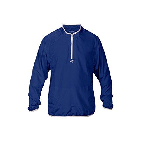 Easton Men's M5 Long Sleeve Cage Jacket, Royal/Silver, X-Large