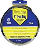 Stanco Range Trim Ring Fits Most Electric Ranges Chrome Plated Steel 8 In.