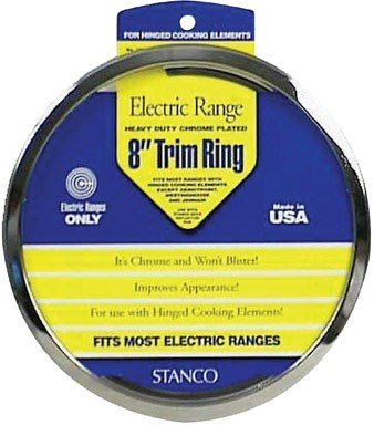 Stanco Range Trim Ring Fits Most Electric Ranges Chrome Plated Steel 8 In. by Stanco (Image #1)